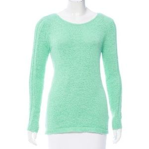 Rachel Zoe Karla Open Knit Mint colored Sweater